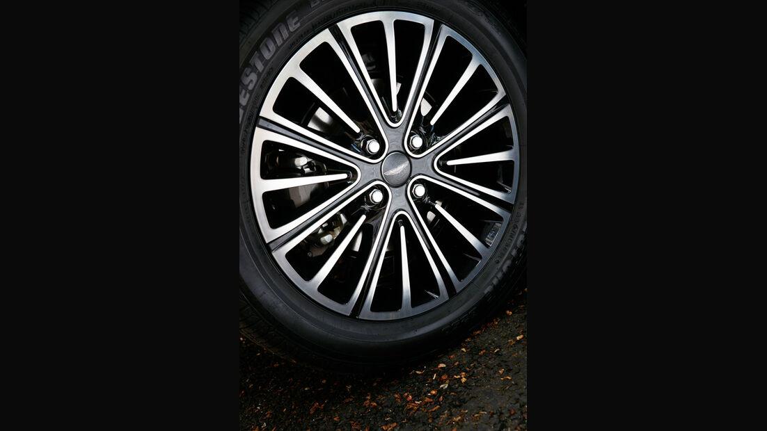 Aston Martin Cygnet, Detail, Vorderrad, Felge