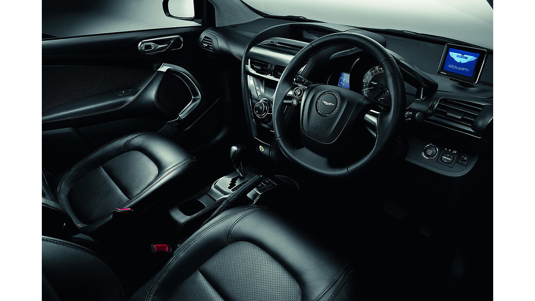 Aston Martin Cygnet, Launch Edition Black, Innenraum, Sitze, Cockpit