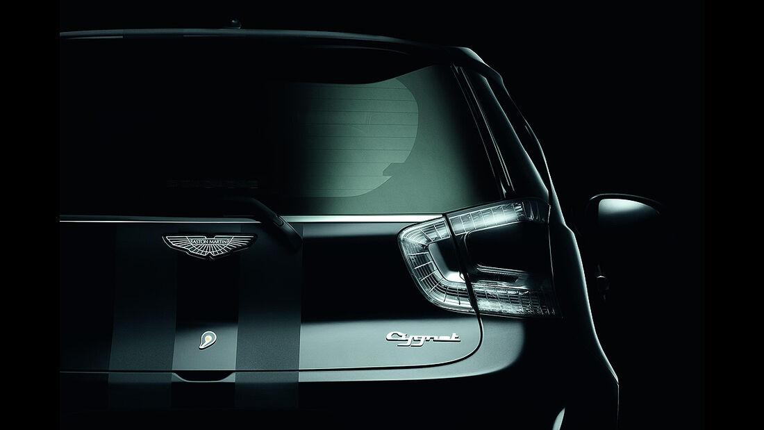 Aston Martin Cygnet, Launch Edition Black, Rückleuchten