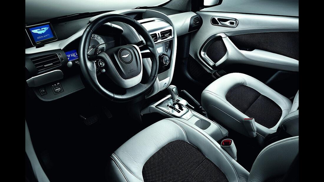 Aston Martin Cygnet, Launch Edition White, Innenraum, Sitze, Cockpit