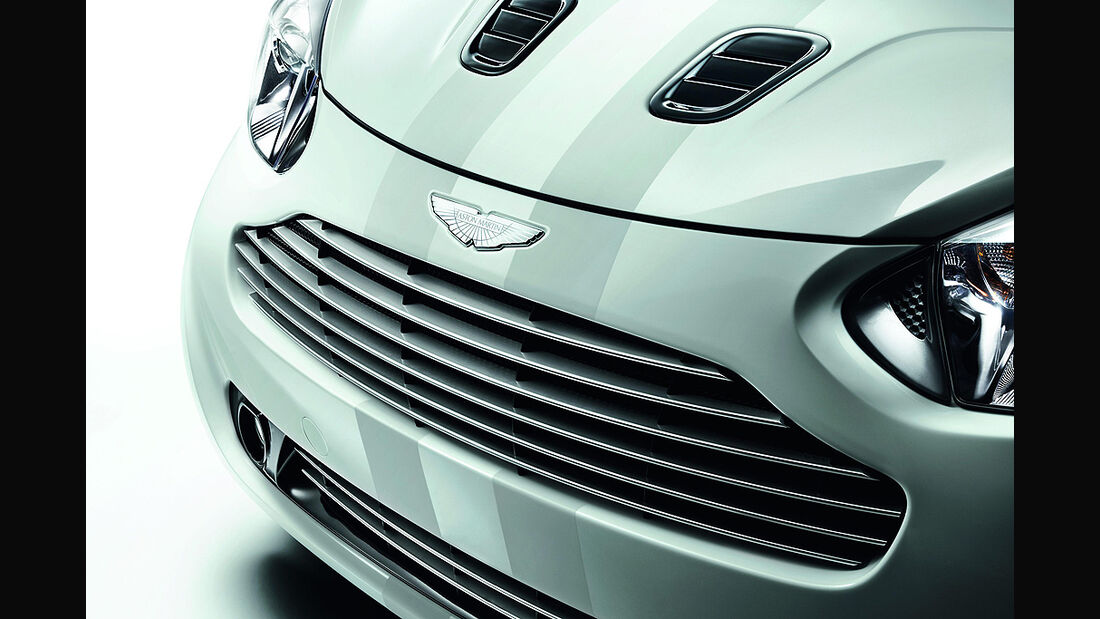 Aston Martin Cygnet, Launch Edition White, Kühlergrill