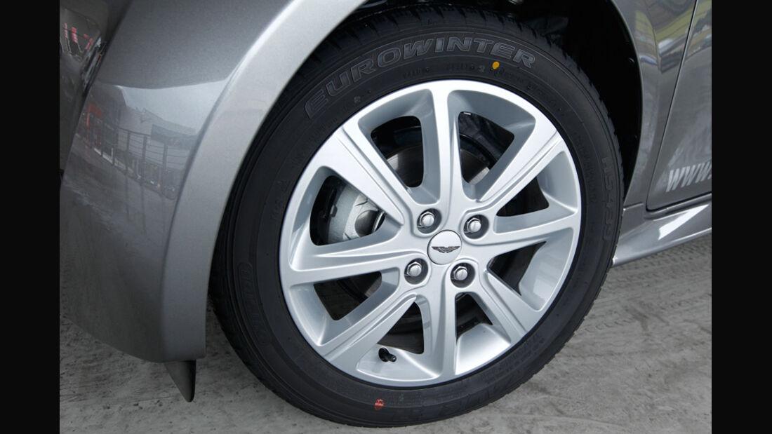 Aston Martin Cygnet, Rad, Felge