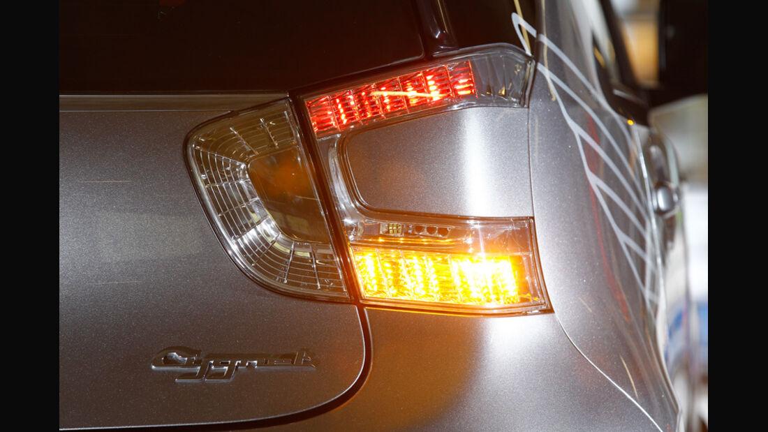 Aston Martin Cygnet, Rücklichter