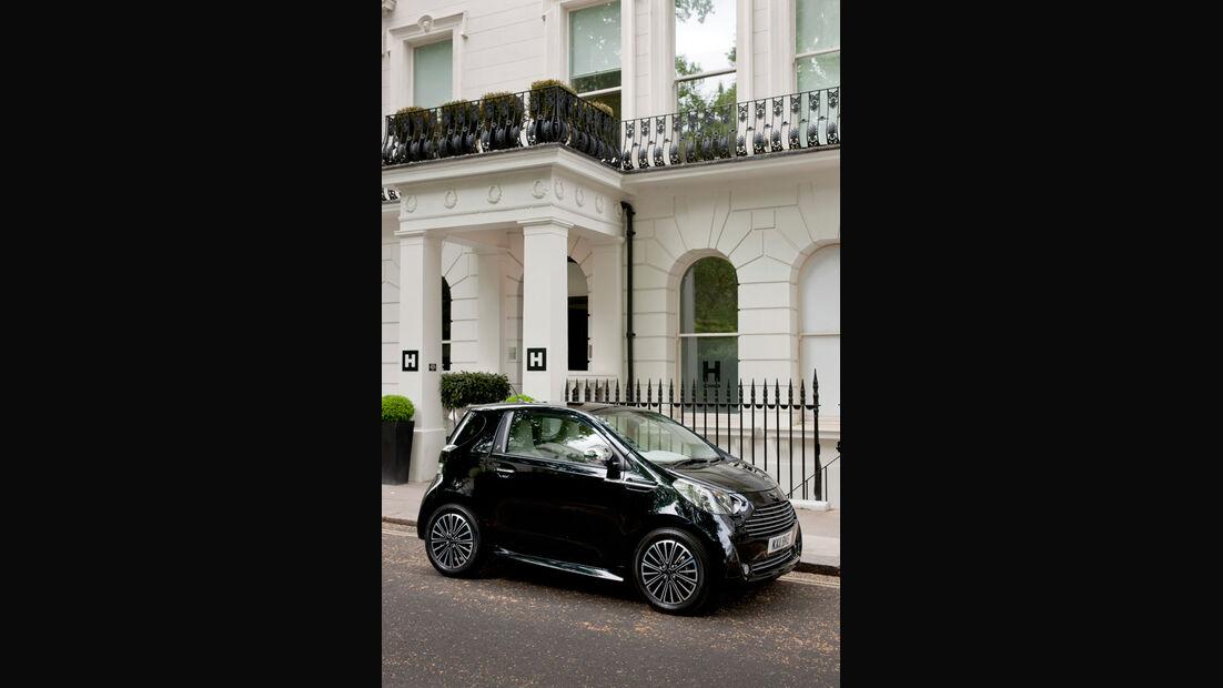 Aston Martin Cygnet, Seitenansicht, Stand