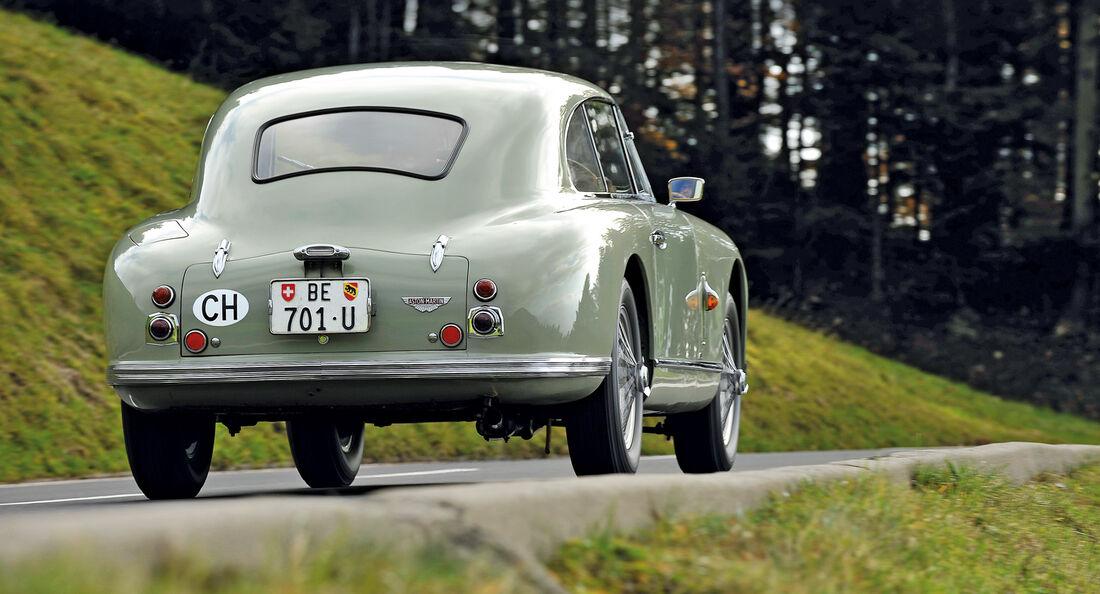 Aston Martin DB2, Heckansicht