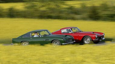 Aston Martin DB4 GT und Ferrari 250 SWB