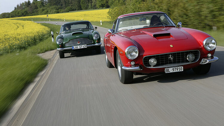 Aston Martin Db4 Gt Ferrari 250 Swb Fahrbericht Zwei Parade Gt Auto Motor Und Sport