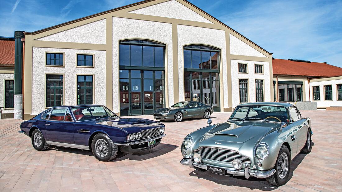 Aston Martin DB4 Vantage, DBS, DB7, Frontansicht