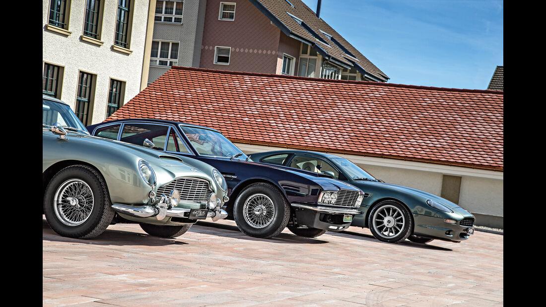 Aston Martin DB4 Vantage, DBS, DB7, Motorhaube