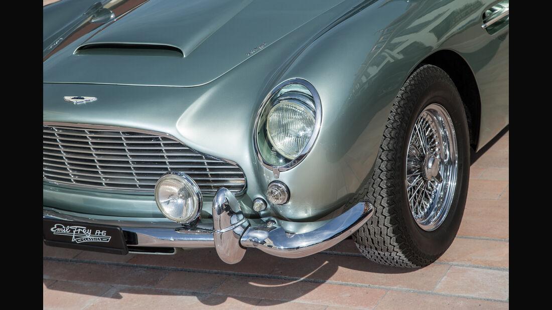 Aston Martin DB4 Vantage, Frontscheinwerfer, Kühlergrill