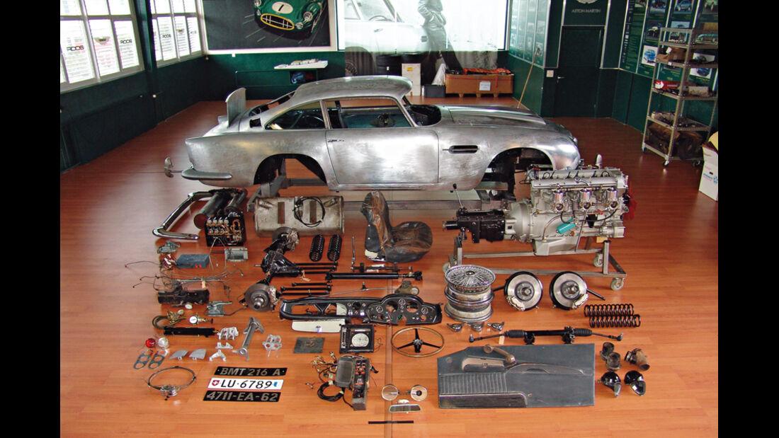 """Aston Martin DB5 """"007"""", Restaurierung"""