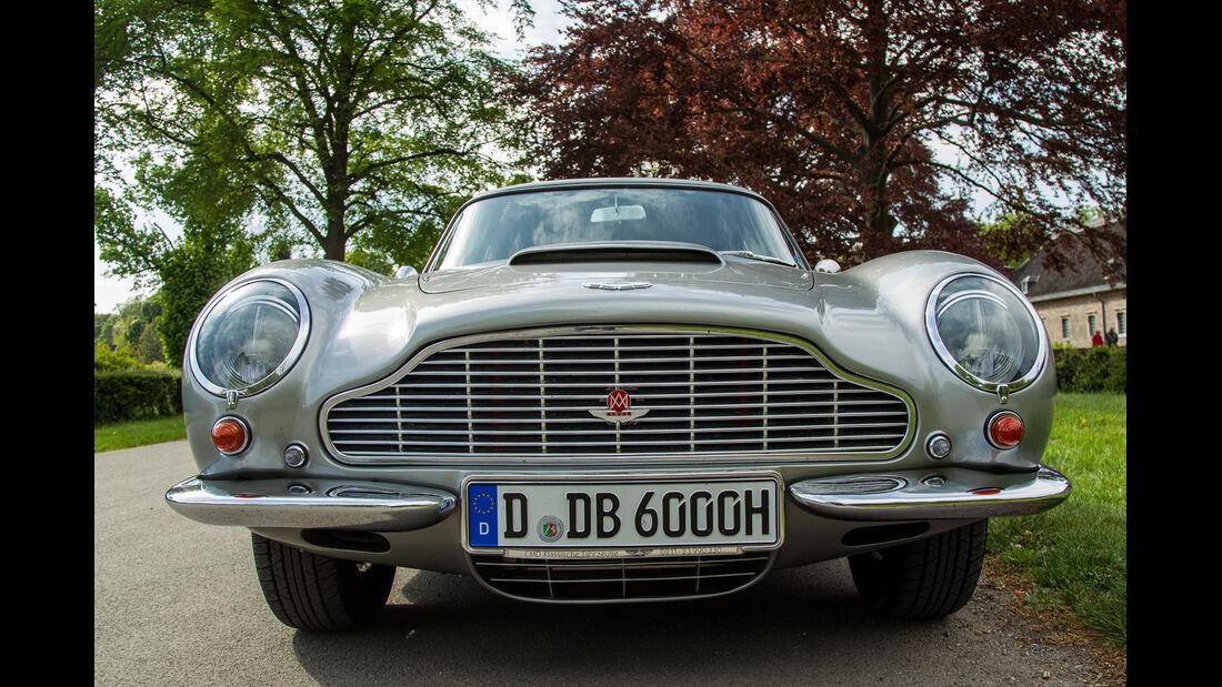 Aston Martin DB6, Frontansicht, Kühlergrill