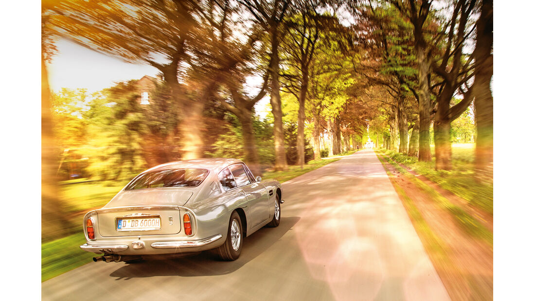 Aston Martin DB6 MK I, Heckansicht