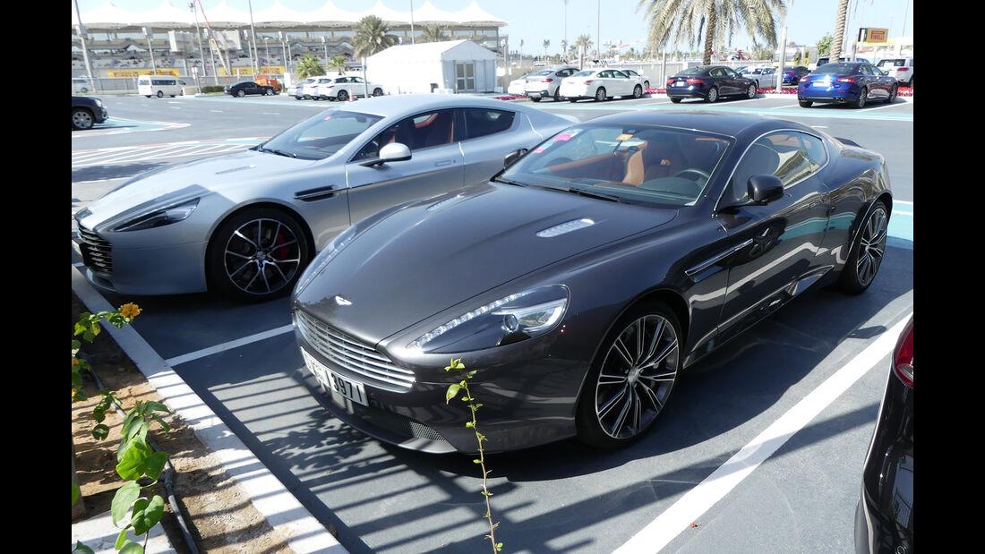 Aston Martin DB9 & Rapide S - Carspotting - Abu Dhabi 2017