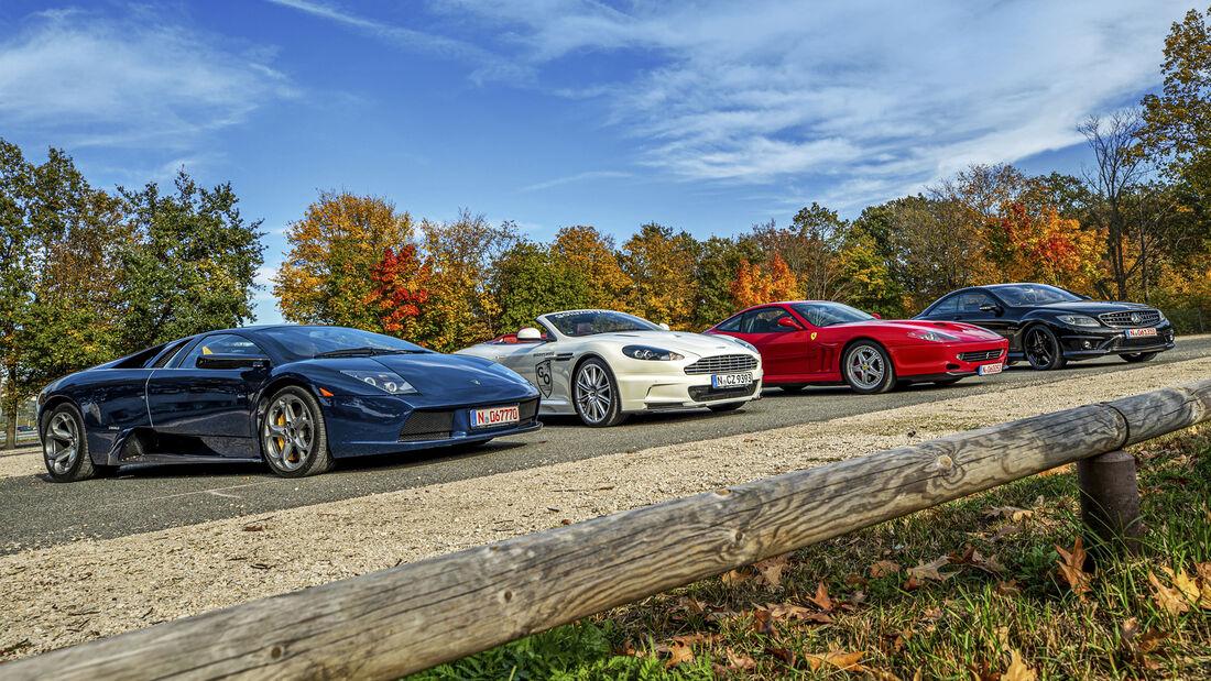 Aston Martin DBS, Ferrari 550 Maranello, Lamborghini MurciŽlago, Mercedes CL 65 AMG, Exterieur