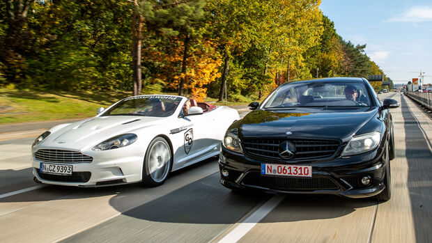 Aston Martin DBS, Mercedes CL 65 AMG, Exterieur