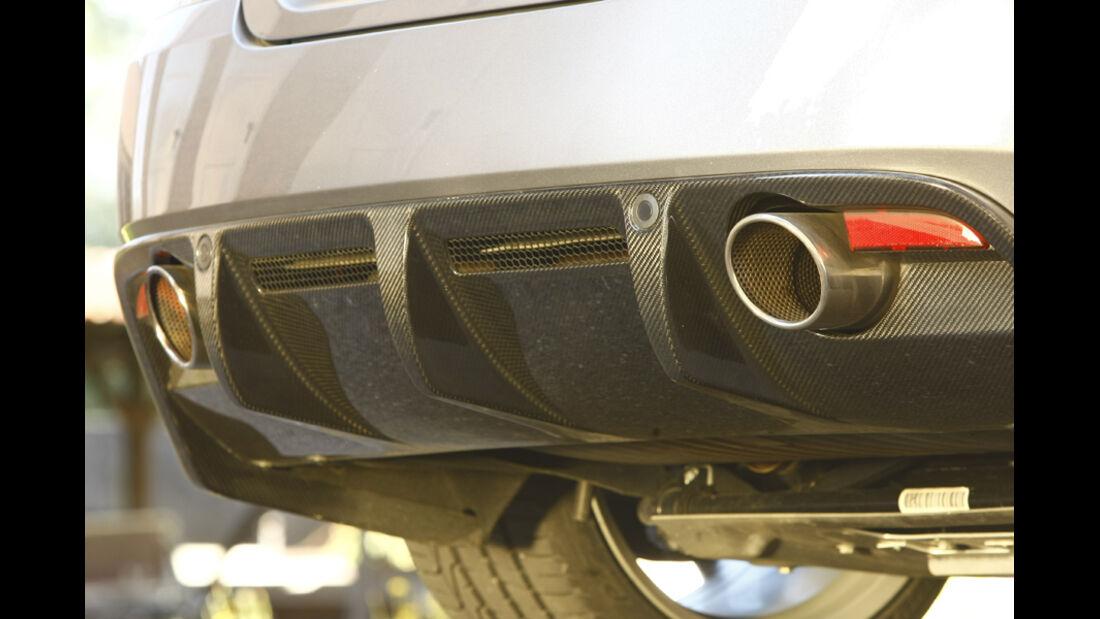Aston Martin DBS Volante, Auspuff