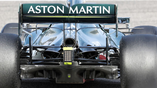 Aston Martin - Diffusor - Formel-1-Test - Bahrain - 2021