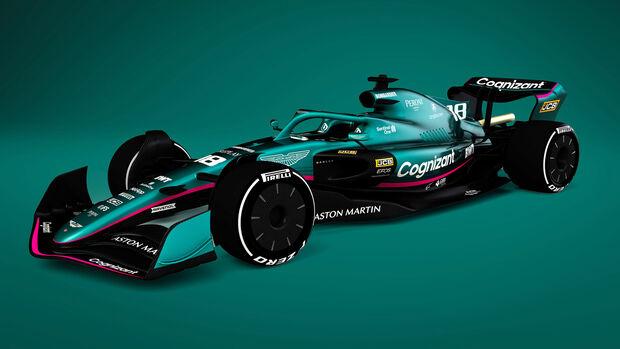 Aston Martin - F1-Auto 2022 - Team-Lackierung