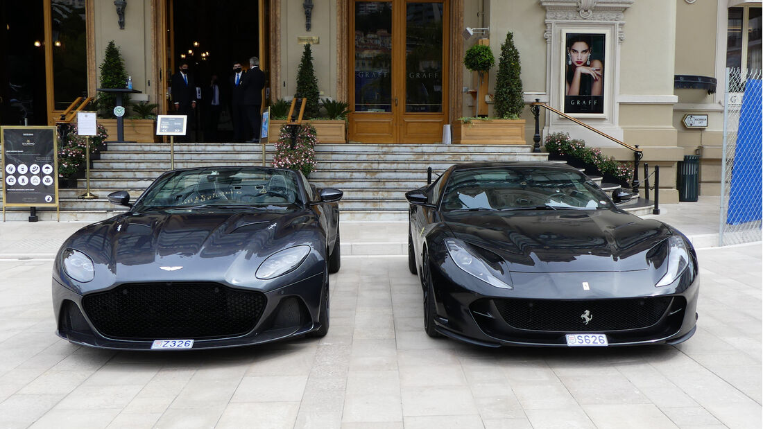 Aston Martin - Ferrari - Luxusautos - Formel 1 - GP Monaco - 21. Mai 2021