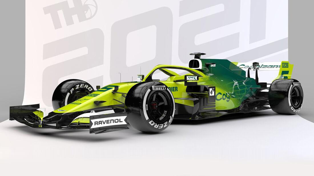 Aston Martin - Formel 1 - Livery-Concept 2021 - Tim Holmes Design