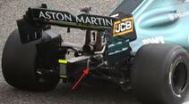Aston Martin - Hinterradaufhängung - F1-Test - Bahrain - 2021