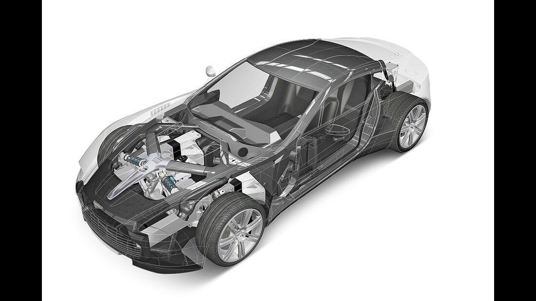 Aston Martin One-77, technische Zeichnung