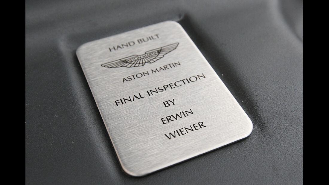 Aston Martin Rapide Plakette
