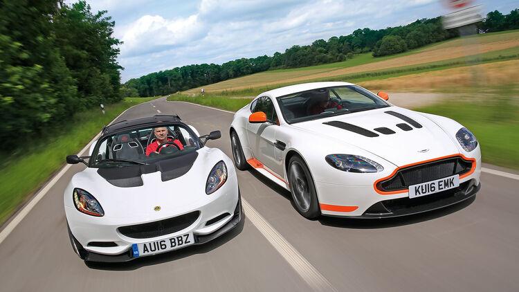 Aston Martin V12 Vantage S Und Lotus Elise Cup 250 Auto Motor Und Sport