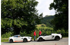 Aston Martin V12 Vantage S, Lotus Elise Cup 250, Seitenansicht