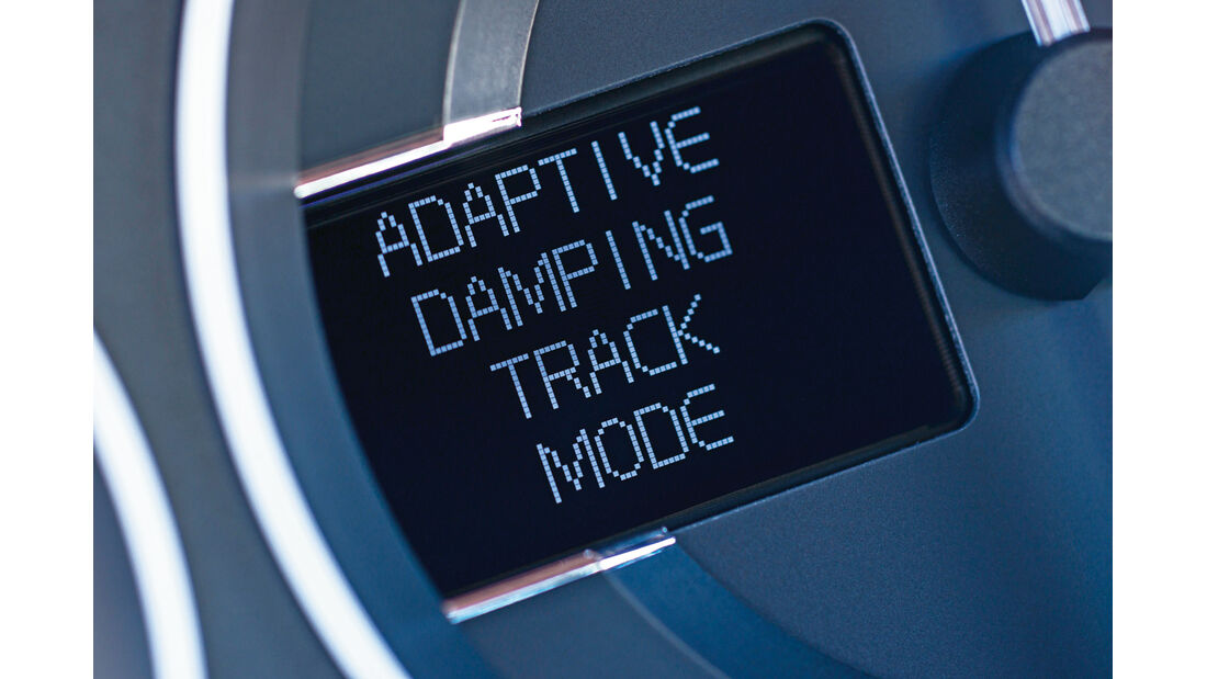Aston Martin V12 Vantage S, Track Mode, Anzeige
