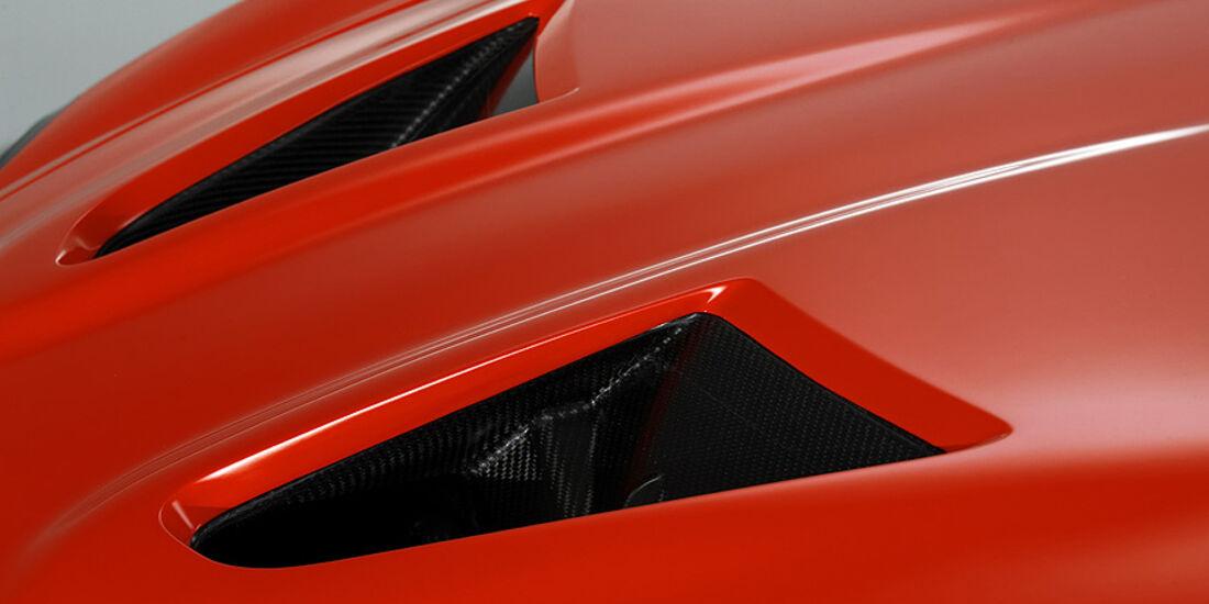 Aston Martin V12 Zagato Concept, Entlpüftungsöffnungen Motorhaube