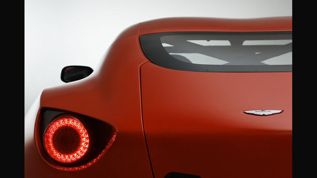 Aston Martin V12 Zagato Concept, Rücklicht Dach