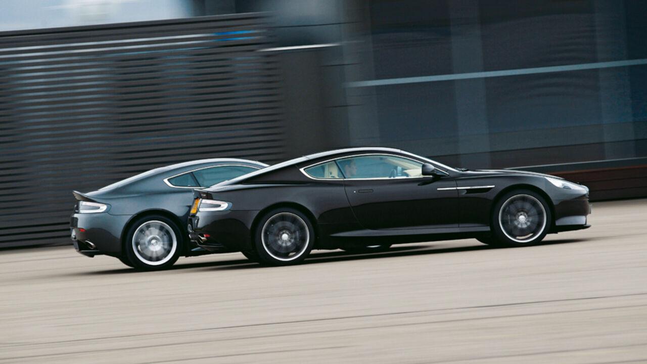 Aston Martin V8 Vantage Gegen Virage Aston Frage Zwölf Oder Achtzylinder Auto Motor Und Sport