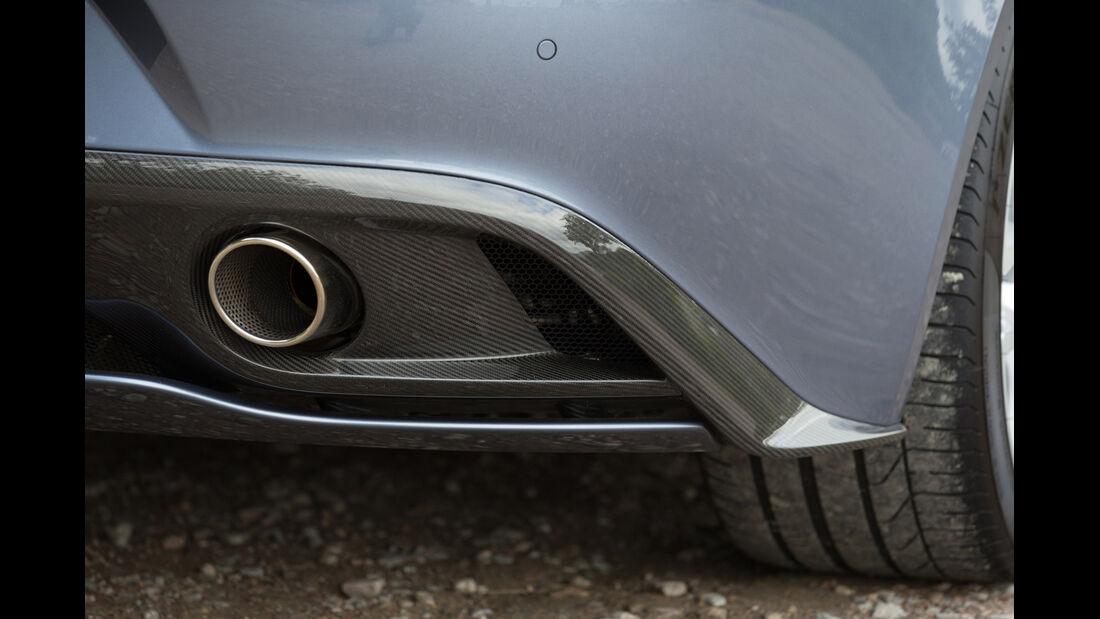 Aston Martin Vanquish, Auspuff, Endrohr