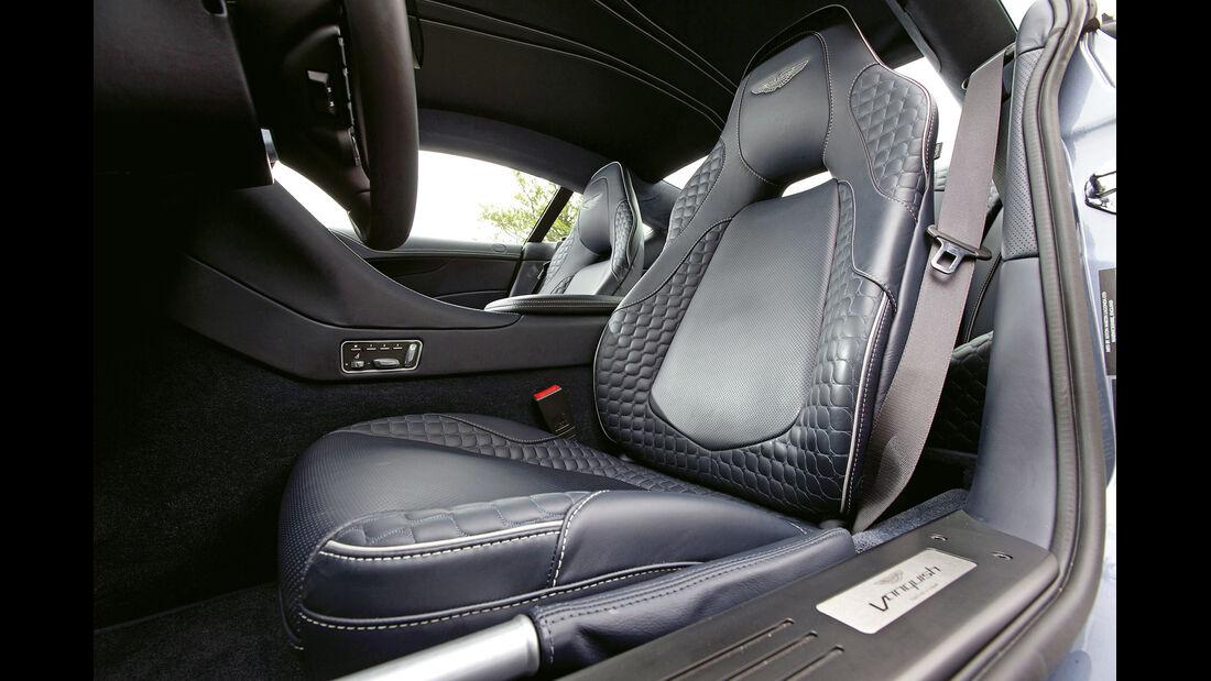 Aston Martin Vanquish, Fahrersitz