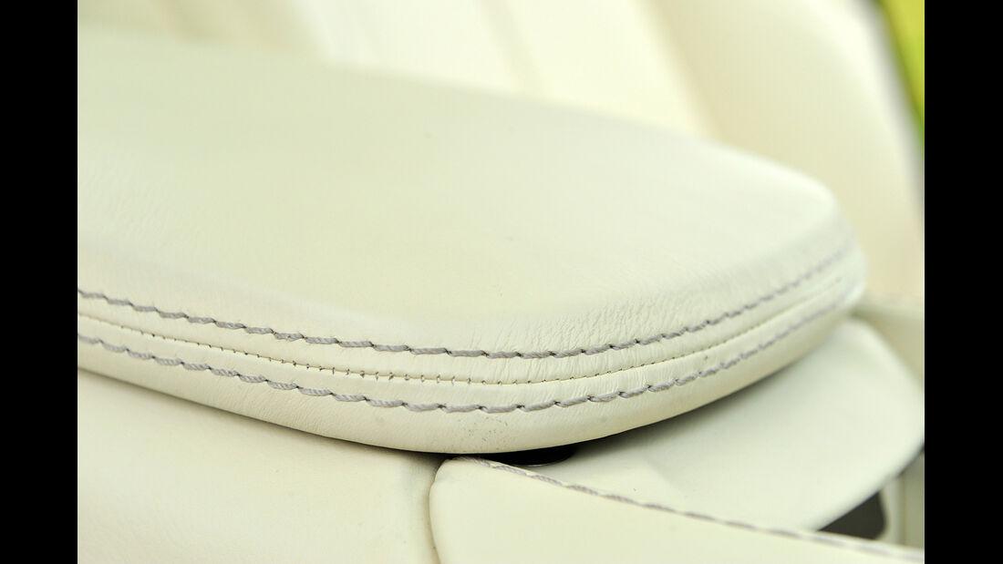 Aston Martin Vanquish, Lederverarbeitung, Detail