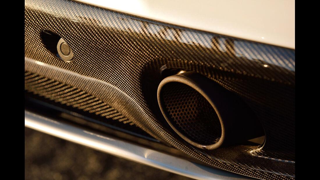 Aston Martin Vanquish Volante, Endrohr, Auspuff