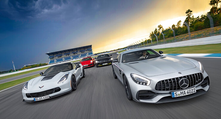 Aston Martin Vantage Corvette Amg Gt S Und 911 Gts Im Test Auto
