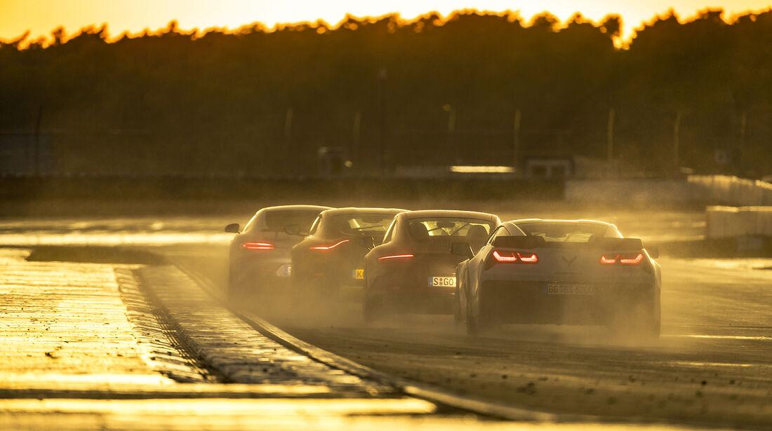 Aston Martin Vantage, Chevrolet Corvette Grand Sport, Mercedes-AMG GT S, Porsche 911 Carrera GTS, Exterieur