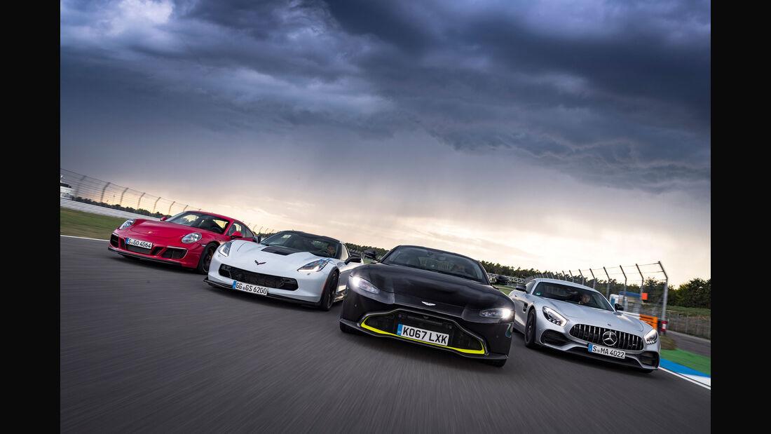 Aston Martin Vantage - Corvette Grand Sport - Mercedes-AMG GT S - Porsche 911 Carrera GTS - Sportwagen