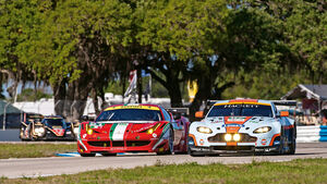 Aston Martin Vantage, Ferrari, Frontansicht