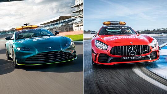 Aston Martin Vantage - Mercedes AMG GT-R - Safety-Car - Formel 1 - 2021