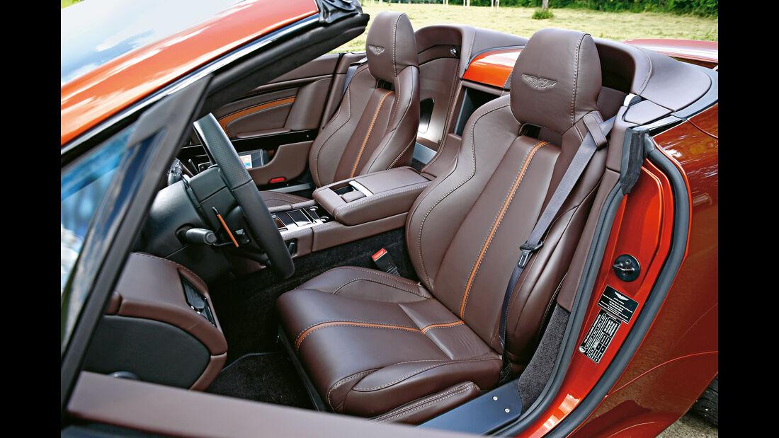 Aston Martin Vantage S, Fahrersitz