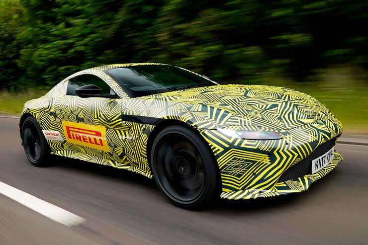 Aston Martin Vantage V8 Teaser Erlkönig
