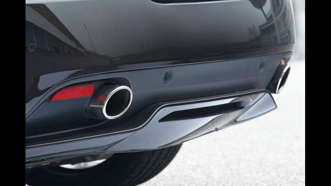 Aston Martin Virage, Auspuff