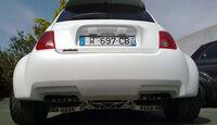Atomik Cars Fiat 500 Elektroauto Heckansicht