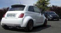 Atomik Cars Fiat 500 Elektroauto schräg von hinten