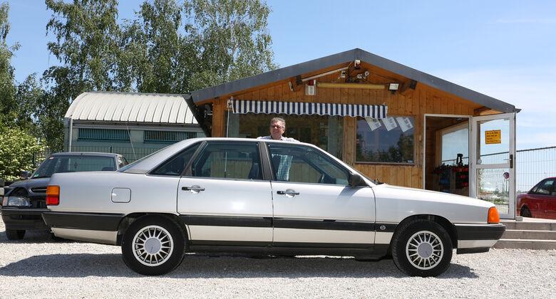 Audi 100 CS, Typ 44, Seitenansicht
