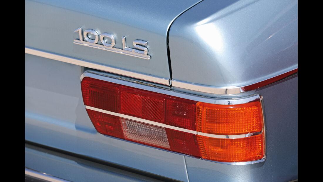 Audi 100 LS, Heckleuchte, Typenbezeichnung